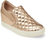 Wanted Rose Gold Bushkill Metallic Quilted Wedge Sneakers