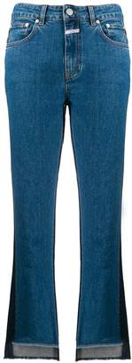 Closed two tone cropped denim jeans