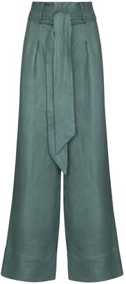 BONDI BORN Fancy Wide Leg Trousers