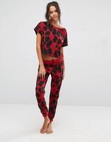 Asos Leopard Tee & Jogger Pajama Set