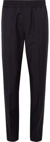 Acne Studios Ryder Slim-fit Tapered Wool And Mohair-blend Drawstring Trousers - Navy
