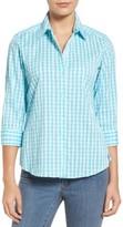 Foxcroft Women's Crinkled Gingham Shirt
