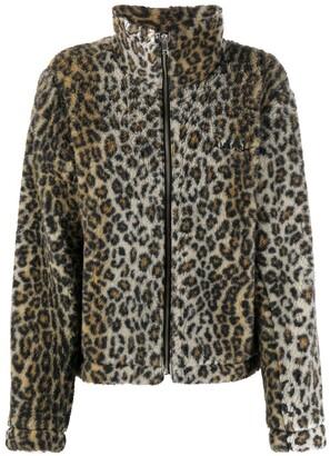 Ambush Leopard Print Fleece Jacket