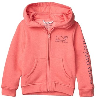 Vineyard Vines Kids Full Zip Graphic Hoodie (Toddler/Little Kids/Big Kids) (Jetty Red Heather) Boy's Clothing