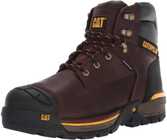 """Caterpillar Excavator LT 6"""" Waterproof Work Boot Espresso 12 Wide"""