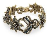 Heidi Daus Time For Tea Swarovski Crystal Bracelet/Goldtone