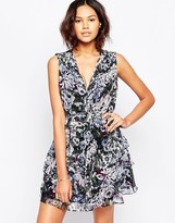 Greylin Chennai Silk Floral Printed Dress