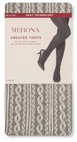 Merona Women's Sweater Tight Ivory Cable with Nilit Heat Technology