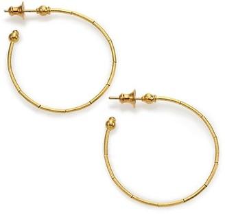 """Gurhan Rain 24K Yellow Gold Hoop Earrings/1.35"""""""