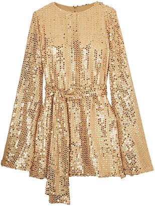 Caroline Constas Anya Sequined Georgette Mini Dress