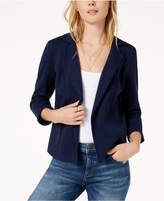 Maison Jules Open-Front Peplum Blazer, Created for Macy's