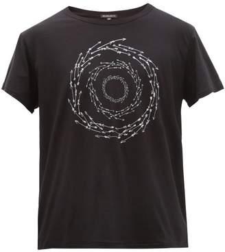 Ann Demeulemeester Arrow-print Cotton T-shirt - Mens - Black White