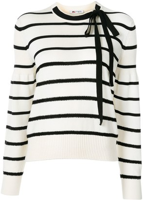 Ports 1961 Bow-Neck Striped Sweater