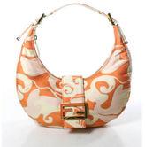 Fendi Multicolored Abstract Gold Tone Single Strap Hobo Shoulder Handbag