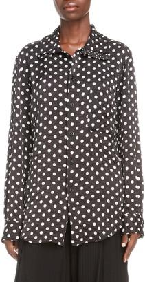 Y's by Yohji Yamamoto Polka Dot Shirt