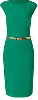 Michael Kors Emerald Belted Wool-Blend Sheath Dress