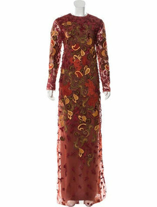 J. Mendel Embellished Evening Dress multicolor