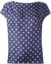 Alberto Biani pattern print blouse