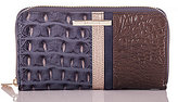 Brahmin Lucca Collection Suri Crocodile-Embossed Colorblocked Wallet
