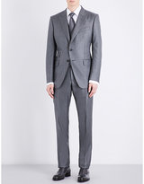 Tom Ford Checked Slim-fit Silk And Wool-blend Suit