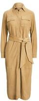 Thumbnail for your product : Lauren Ralph Lauren Ralph Lauren Belted Suede Shirtdress
