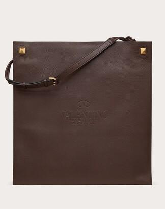Valentino Garavani Uomo Valentino Garavani Identity Leather Tote Bag Man Fondant 100% Pelle Di Vitello - Bos Taurus OneSize