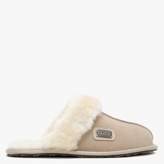 Australia Luxe Collective Beige Double Faced Sheepskin Closed Mule Slippers