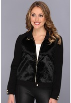 Vince Camuto Ponyhair & Ponte Jacket