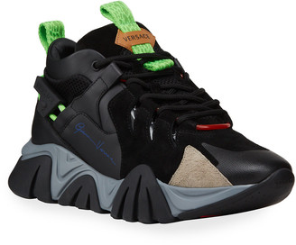 Versace Men's Colorblock Chunky Sport Sneakers