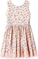 Yumi Girl's Pier Conversational Dress (Soft Pink) Dress