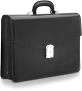 Pineider 1949 - Black Calfskin Double Gusset Briefcase