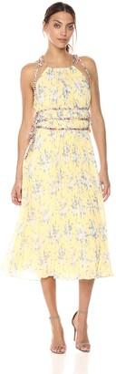 Rebecca Taylor Women's Sleeveless Lemon Pleat Dress