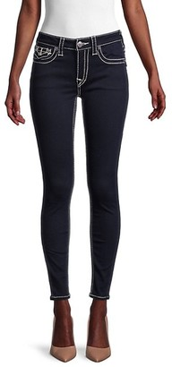 True Religion Jennie Big T Mid-Rise Curvy Skinny Ankle Jeans