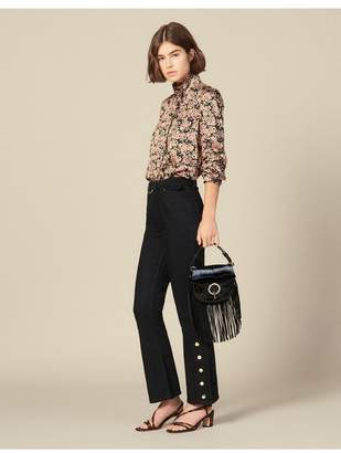 Sandro Flared Jeans With Slits