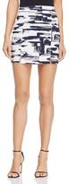 Aqua Brushstroke Mini Skirt - 100% Exclusive