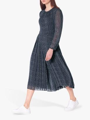 LK Bennett Anoushka Ribbon Print Jumpsuit, Navy/Cream