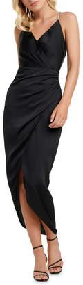 Forever New Tilly Satin Midi Dress