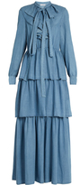 Sonia Rykiel Ruffled denim dress
