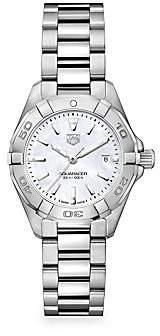 Tag Heuer Women's Aquaracer 27MM Stainless Steel & Mother-of-Pearl Quartz Bracelet Watch
