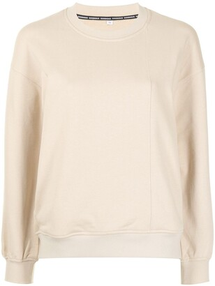 GOODIOUS Slogan-Print Cotton Sweatshirt