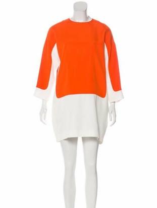 Celine Long Sleeve Mini Dress Orange