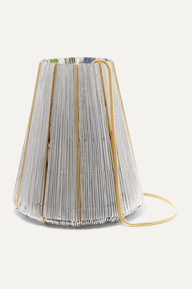 VANINA Le Cannele Gold-plated And Woven Shoulder Bag - Silver