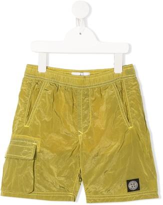 Stone Island Junior Soft Shell Cargo Shorts