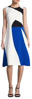 Narciso Rodriguez Crepe Colorblocked A Line Dress