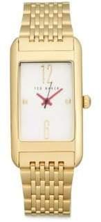 Ted Baker Mother-Of-Pearl Rectangular Bracelet Watch