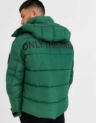 Diesel W-Smith-YA-WH only the brave puffer jacket in green