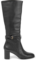 Halston Buckled Leather Boots