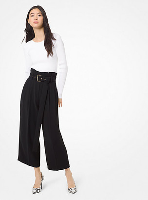 Michael Kors Belted Pleated Culottes