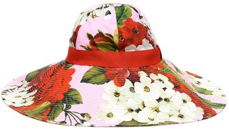 Dolce & Gabbana Floral cotton wide-brim hat