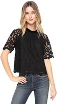 Juicy Couture Royal Lace And Velvet Mix Top